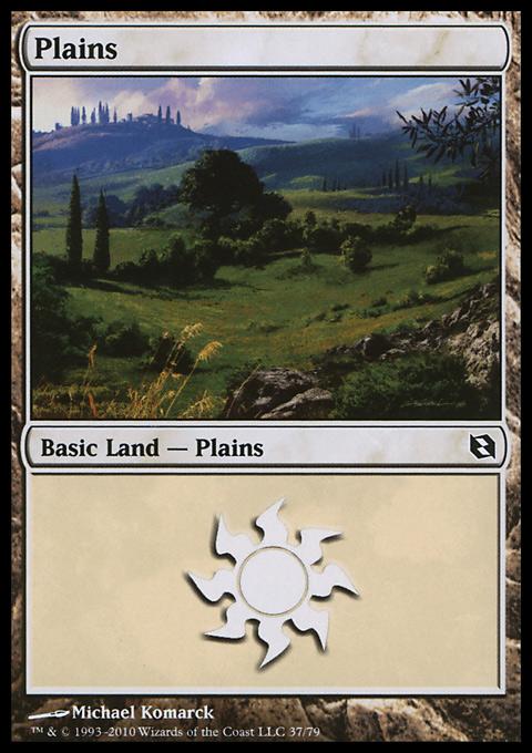 Plains (37)  card from Duel Decks: Elspeth vs. Tezzeret