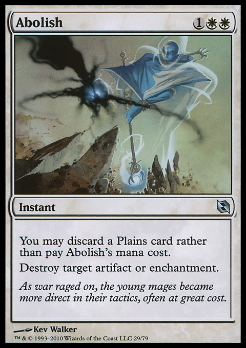 Abolish card from Duel Decks: Elspeth vs. Tezzeret