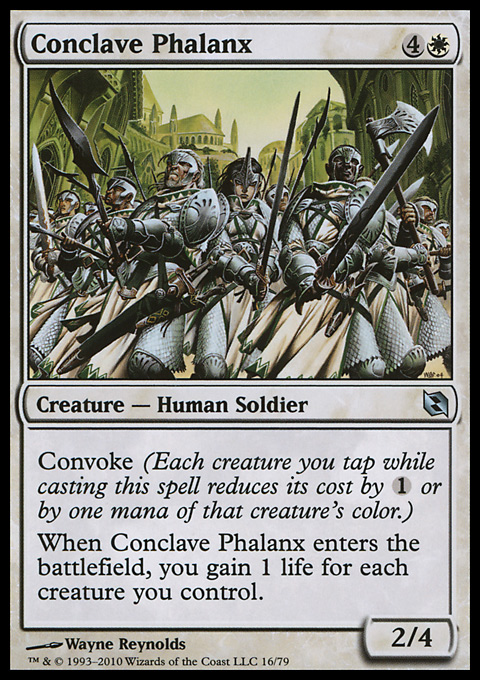 Conclave Phalanx card from Duel Decks: Elspeth vs. Tezzeret