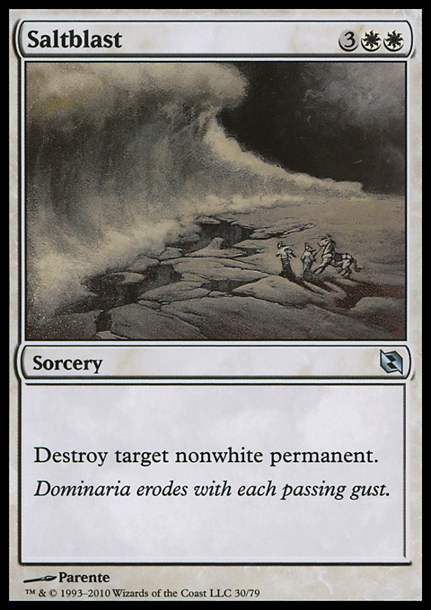 Saltblast card from Duel Decks: Elspeth vs. Tezzeret