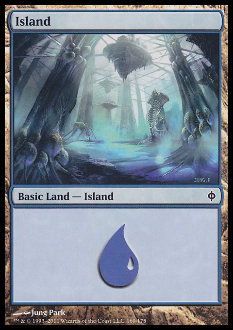 Island (169)  card from New Phyrexia