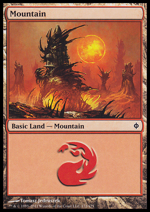 Mountain (172)  card from New Phyrexia