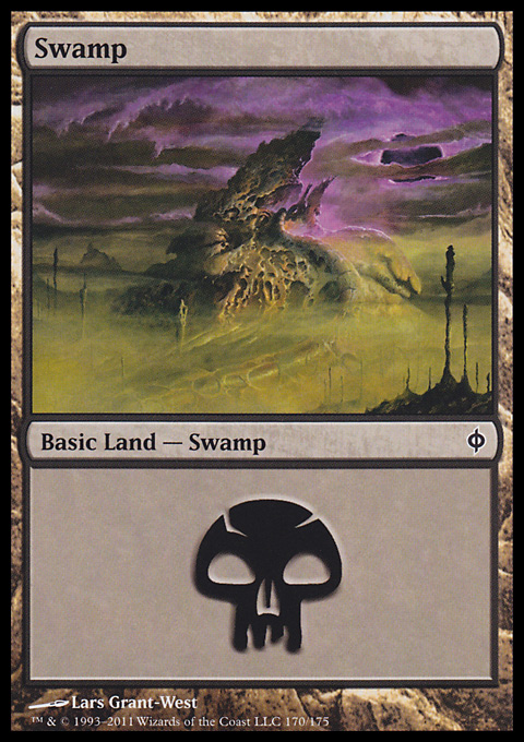 Swamp (170)  card from New Phyrexia