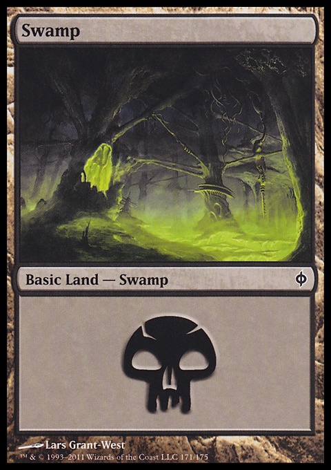 Swamp (171)  card from New Phyrexia