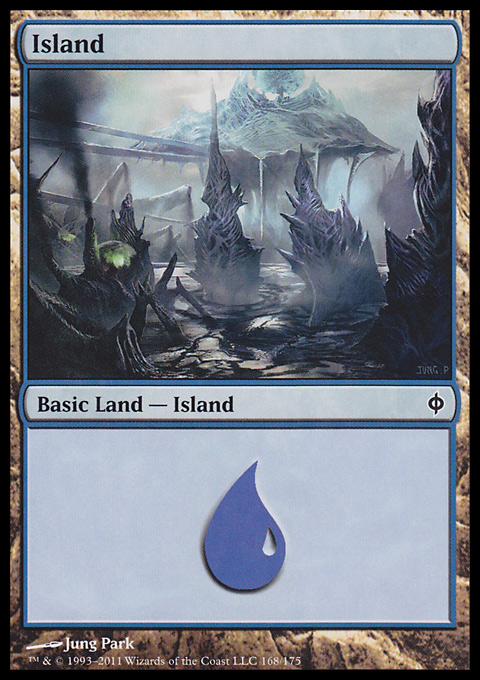 Island (168)  card from New Phyrexia