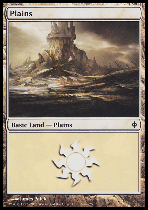 Plains (166)  card from New Phyrexia