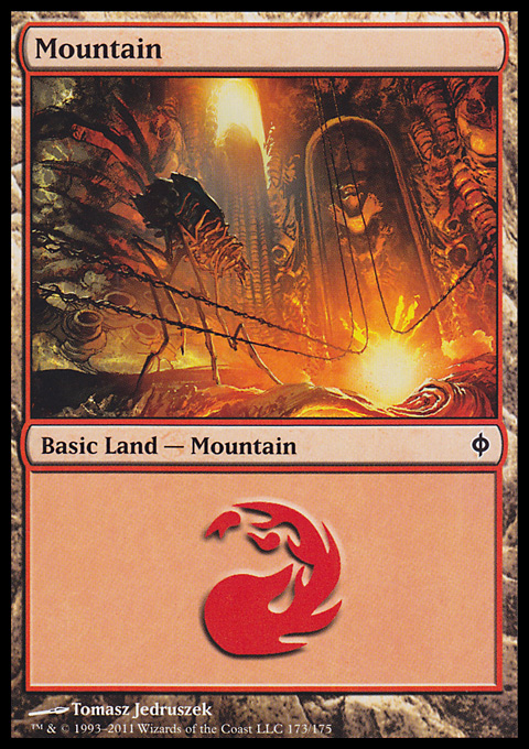 Mountain (173)  card from New Phyrexia