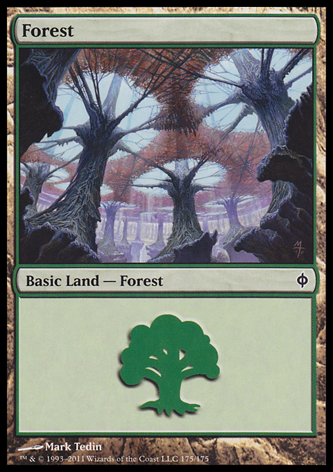 Forest (175)  card from New Phyrexia