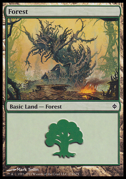 Forest (174)  card from New Phyrexia