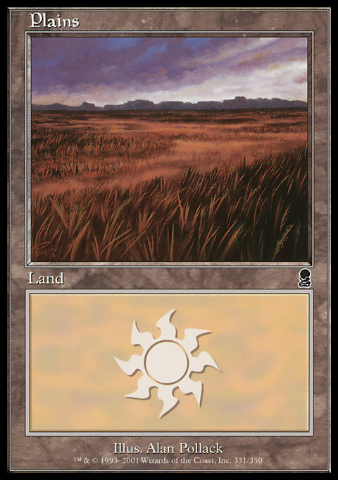 Plains (331) card from Odyssey