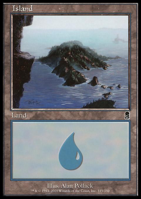 Island (335) card from Odyssey