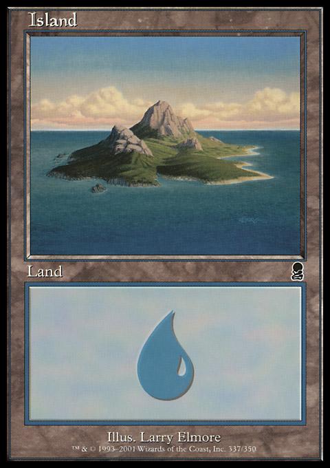 Island (337) card from Odyssey