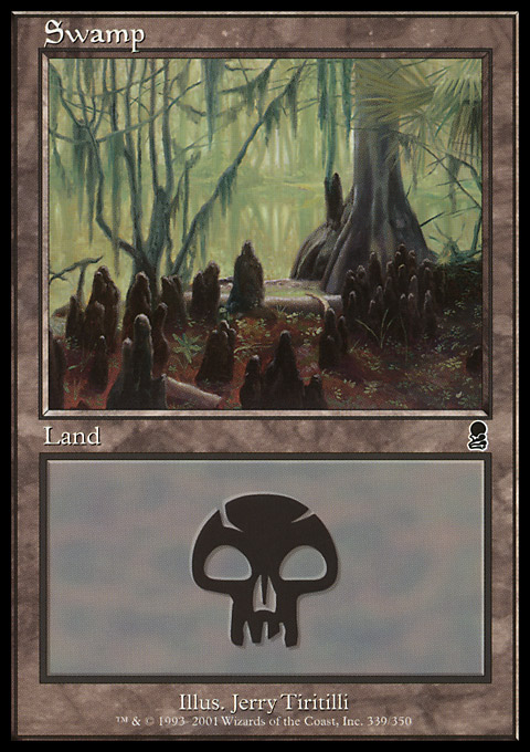 Swamp (339) card from Odyssey