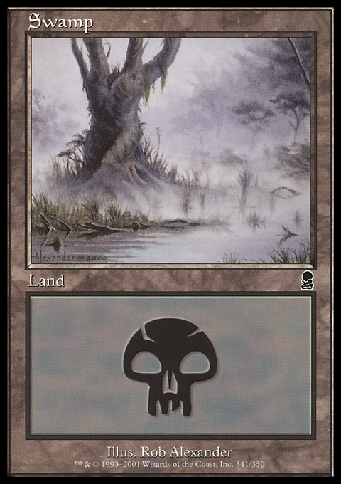 Swamp (341) card from Odyssey