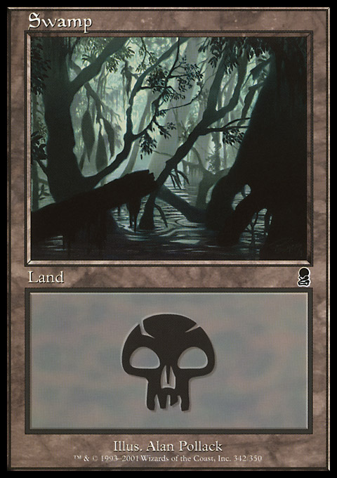 Swamp (342) card from Odyssey