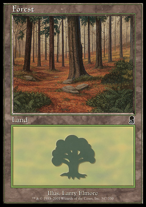Forest (347) card from Odyssey