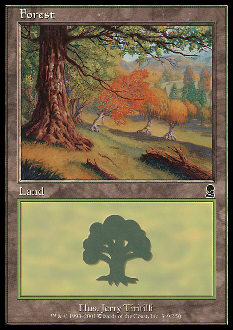 Forest (349) card from Odyssey