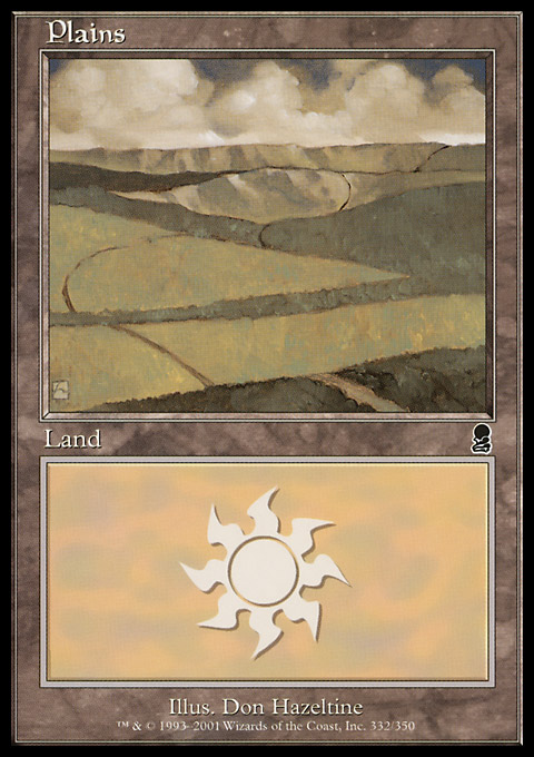Plains (332) card from Odyssey
