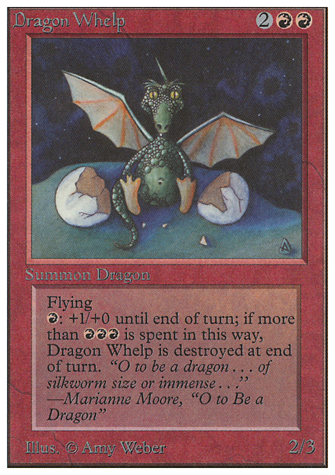 Dragon Whelp card from Unlimited Edition