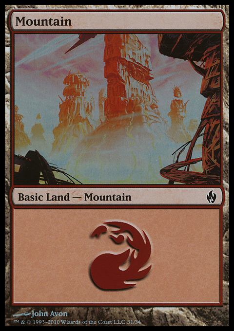 Mountain (31)  card from Premium Deck Series: Fire and Lightning