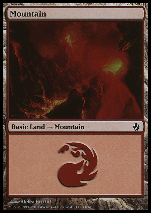 Mountain (33)  card from Premium Deck Series: Fire and Lightning
