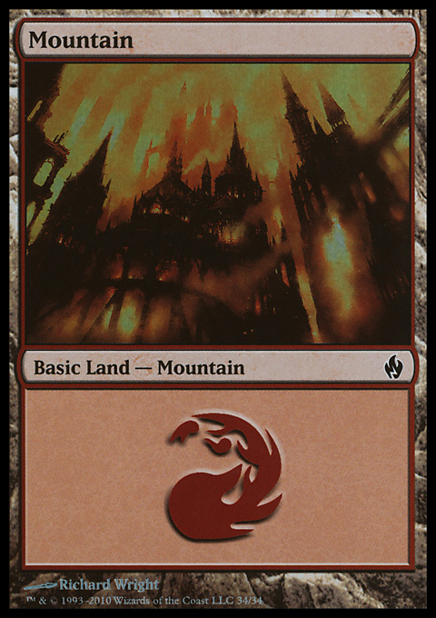 Mountain (34)  card from Premium Deck Series: Fire and Lightning