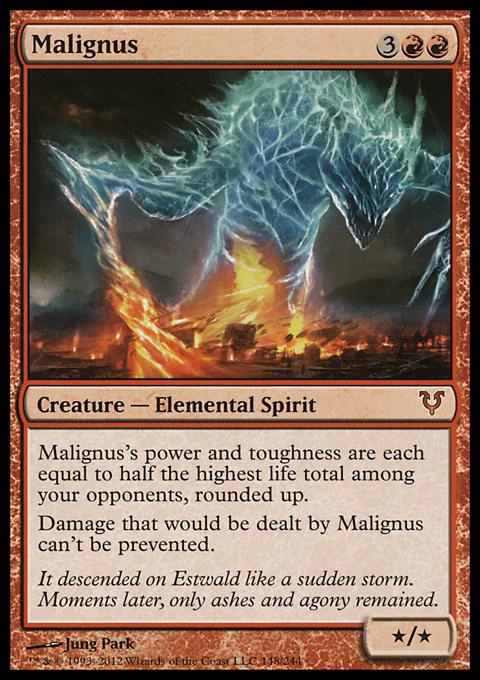 Malignus card from Avacyn Restored