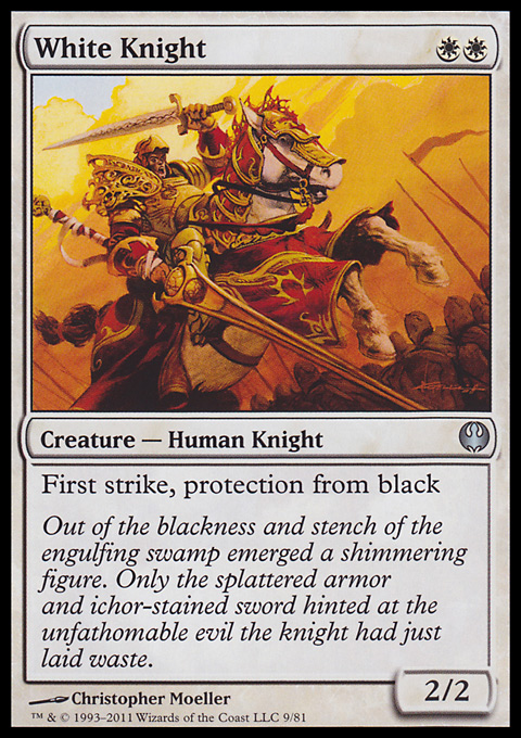 White Knight card from Duel Decks: Knights vs. Dragons