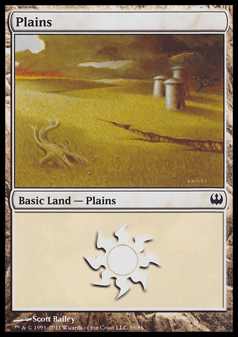 Plains (39)  card from Duel Decks: Knights vs. Dragons