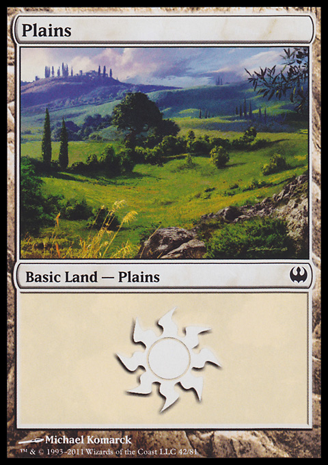 Plains (42)  card from Duel Decks: Knights vs. Dragons