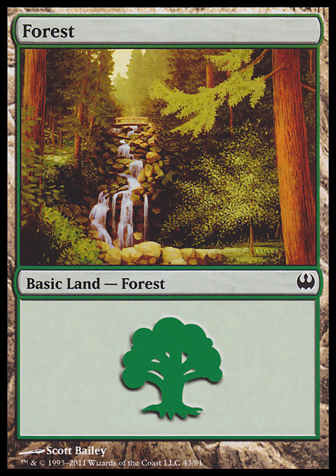 Forest (43)  card from Duel Decks: Knights vs. Dragons