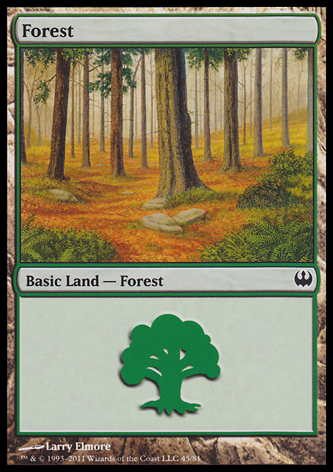 Forest (45)  card from Duel Decks: Knights vs. Dragons