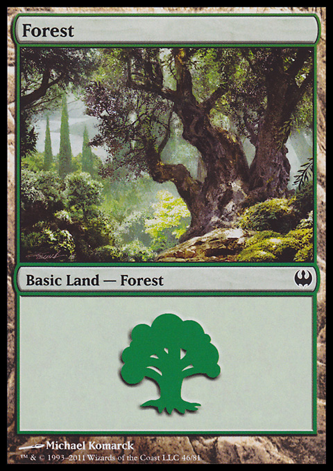 Forest (46)  card from Duel Decks: Knights vs. Dragons