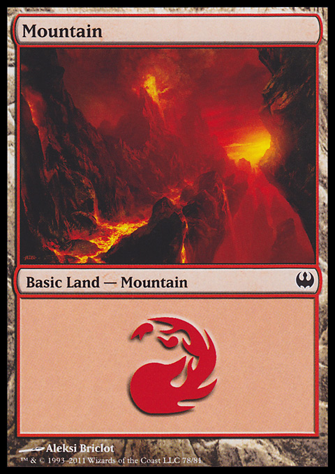 Mountain (78)  card from Duel Decks: Knights vs. Dragons