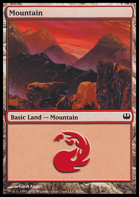 Mountain (80)  card from Duel Decks: Knights vs. Dragons