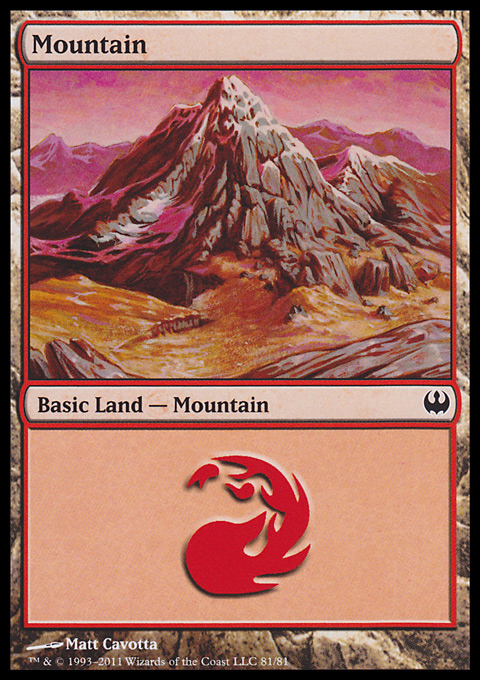Mountain (81)  card from Duel Decks: Knights vs. Dragons