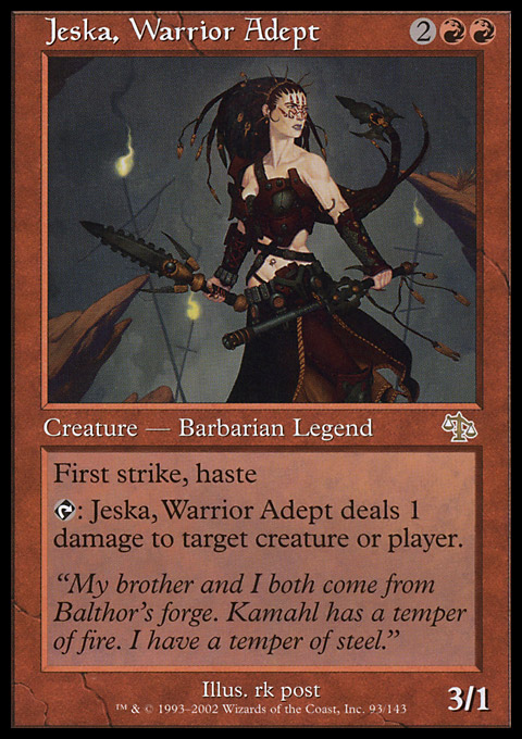 Jeska, Warrior Adept