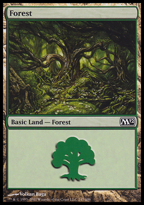 Forest (247) card from Magic 2012