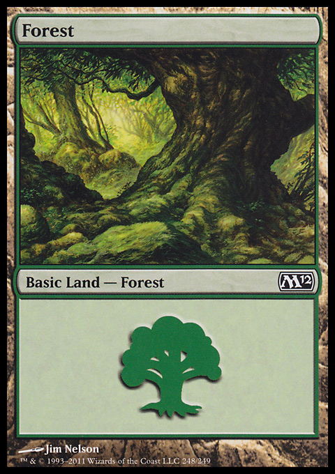Forest (248) card from Magic 2012