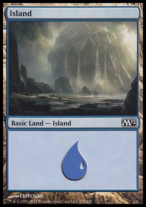 Island (235)  card from Magic 2012