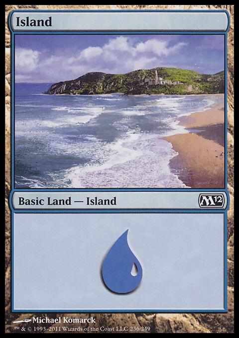 Island (236)  card from Magic 2012