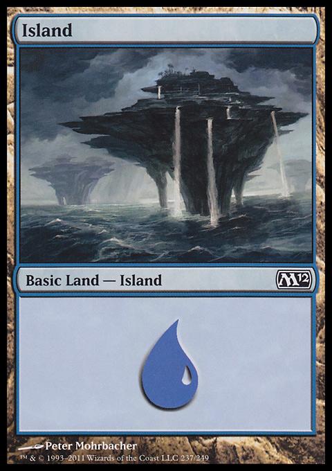 Island (237)  card from Magic 2012