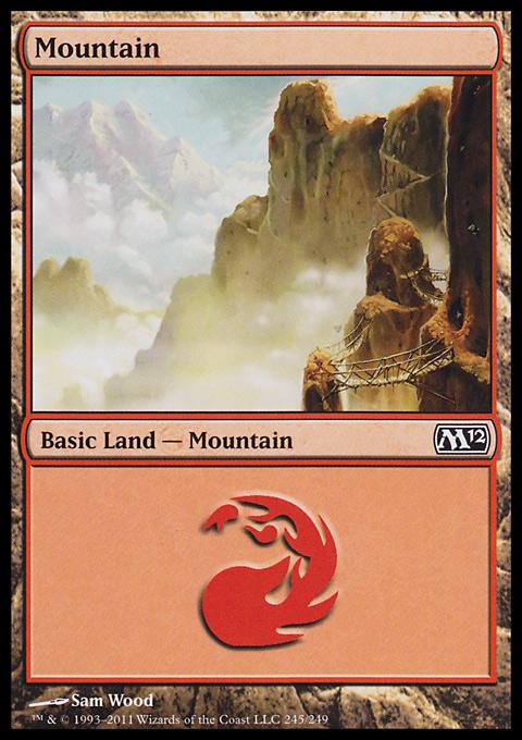 Mountain (245)  card from Magic 2012