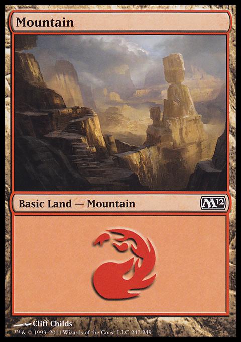 Mountain (242)  card from Magic 2012