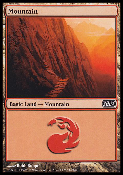 Mountain (244)  card from Magic 2012