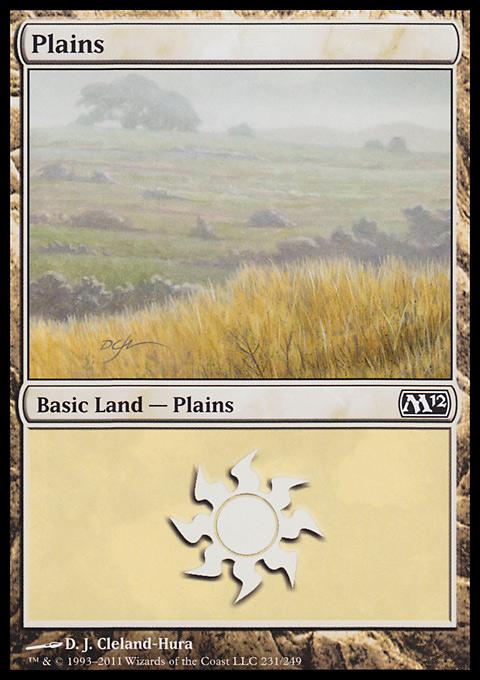 Plains (231)  card from Magic 2012