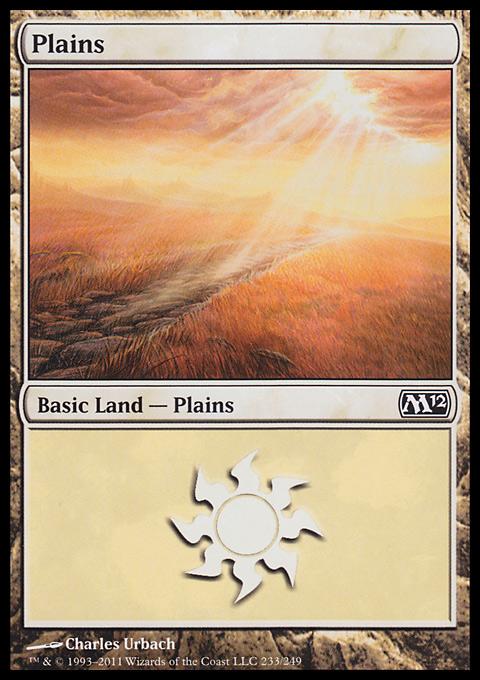 Plains (233)  card from Magic 2012