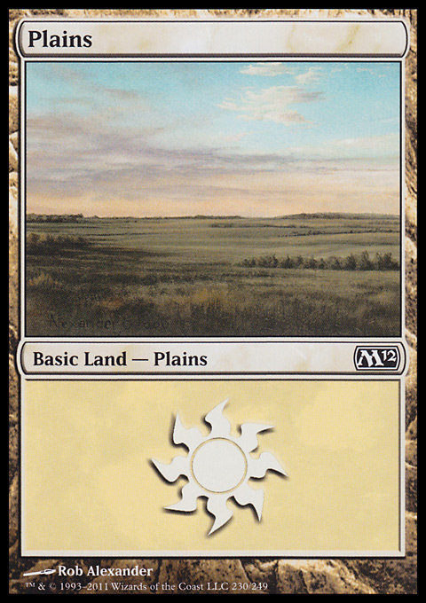 Plains (230)  card from Magic 2012