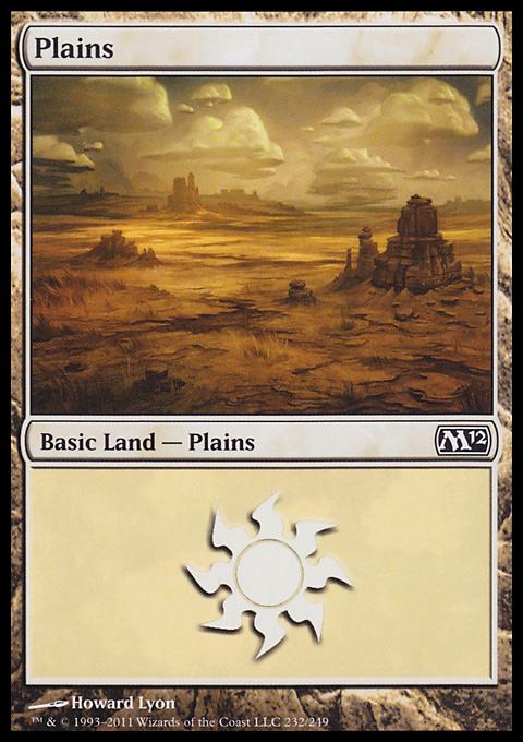 Plains (232)  card from Magic 2012