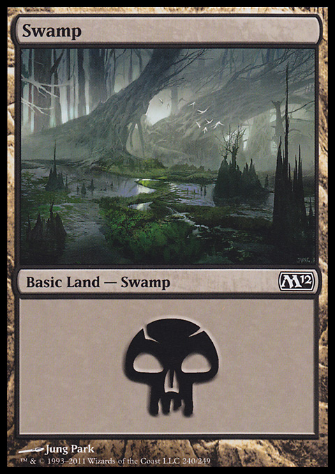 Swamp (240)  card from Magic 2012